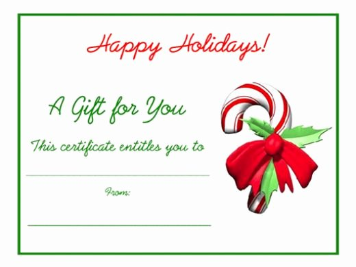 5 Printable Holiday Certificate Templates