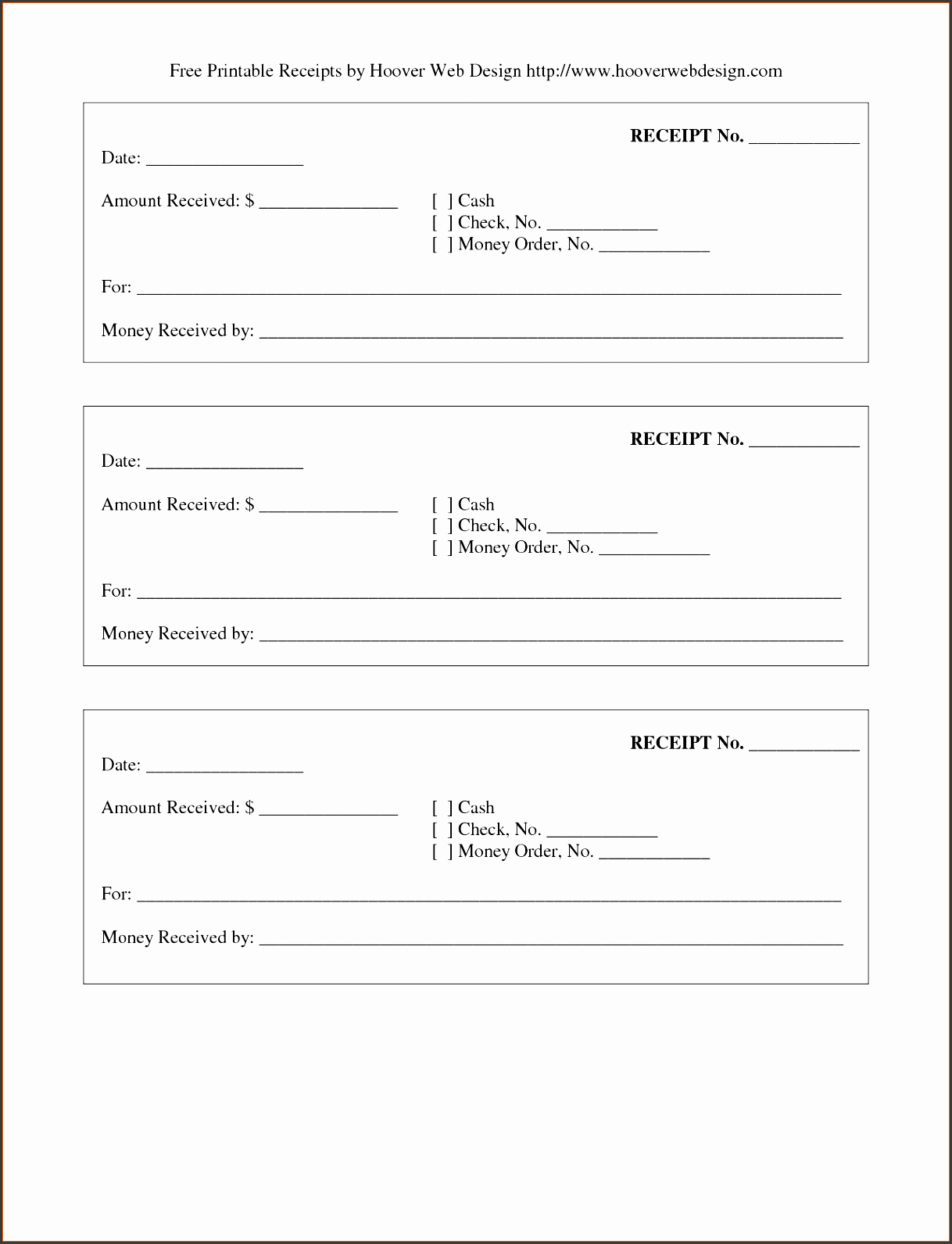 5 Printable Payment Receipt Template Sampletemplatess