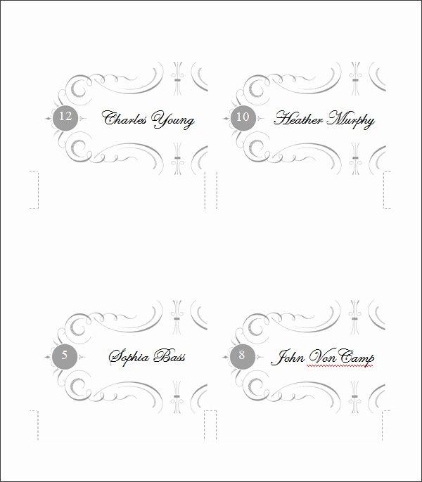 5 Printable Place Card Templates & Designs