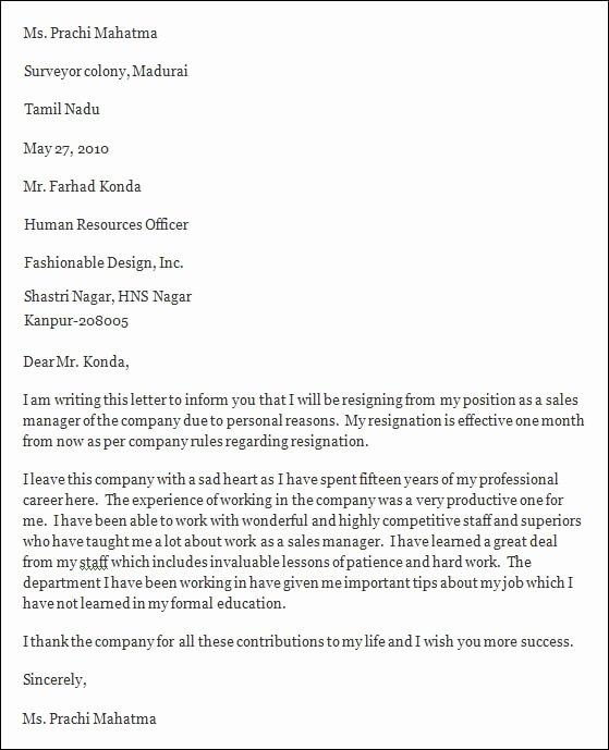 5 Professional Resignation Letter – Pdf Doc