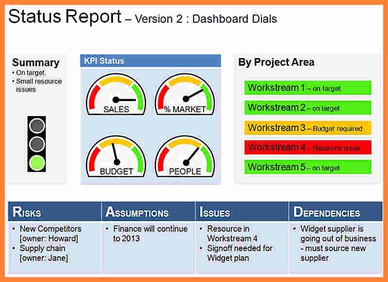 5 Program Management Status Report Template