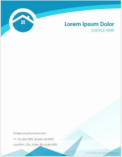 5 Real Estate Agent Fice Letterhead Templates