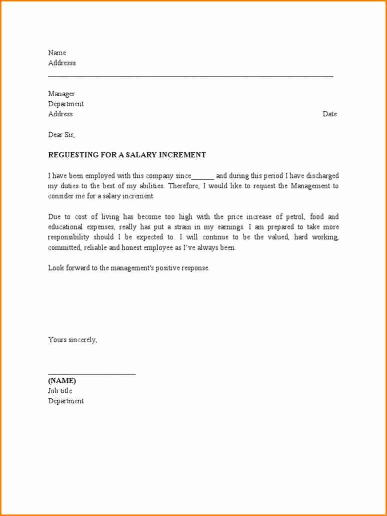 5 Request Letter for Salary Increment