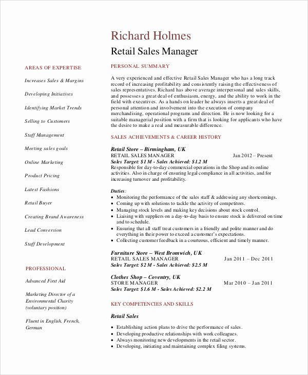 5 Retail Resume Objectives