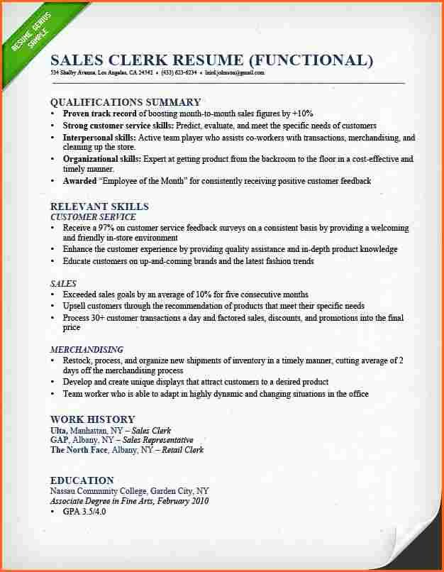 5 Retail Sales associate Resume Bud Template Letter