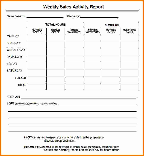 5 Sales Call Report Template