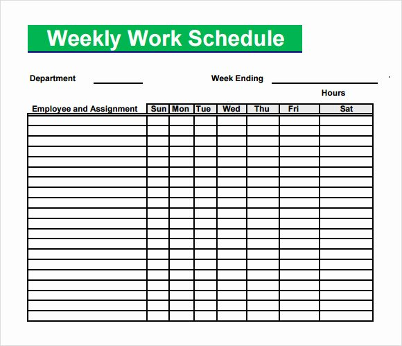 5 Sample Blank Schedule Templates to Download