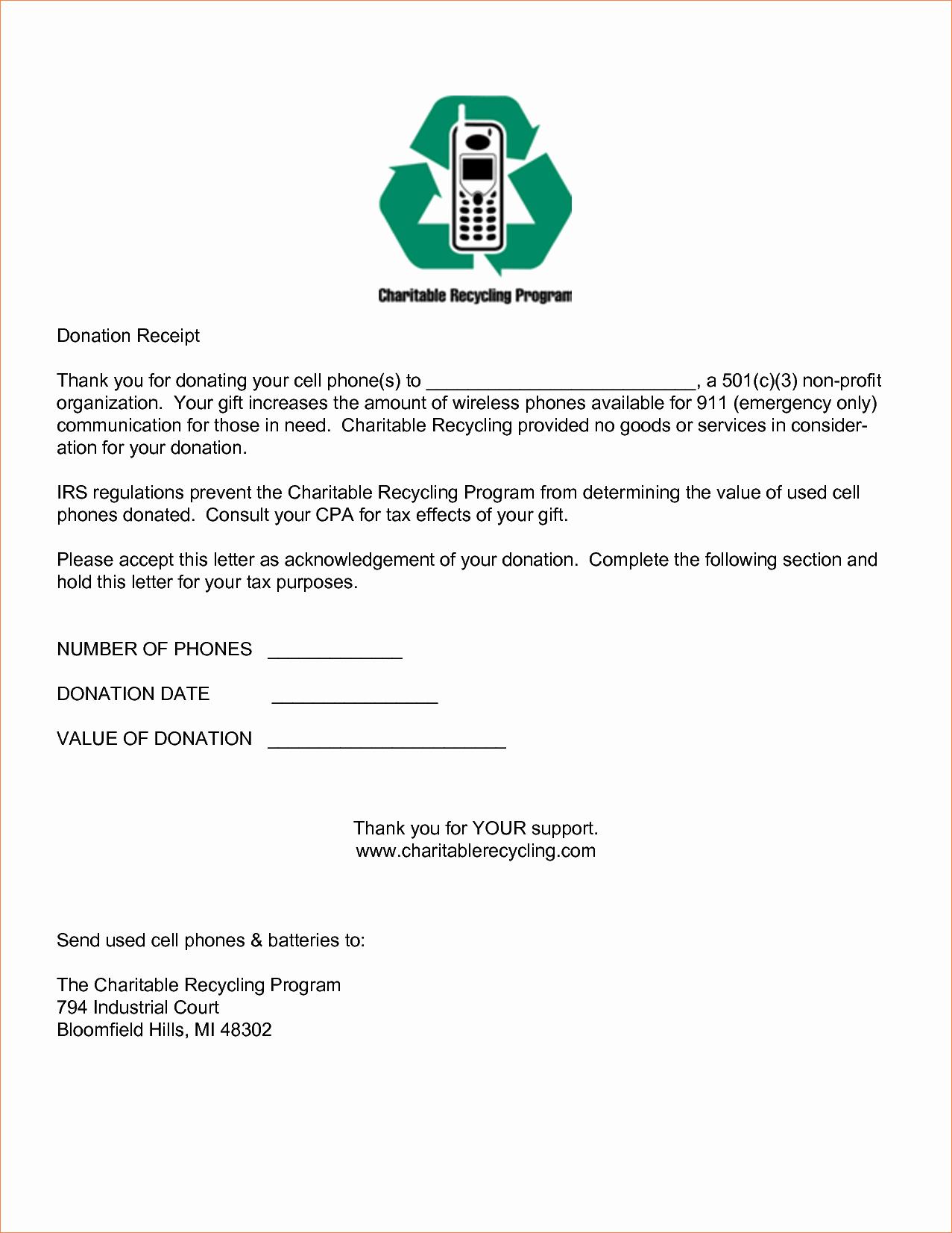 5 Sample Donation Receipt