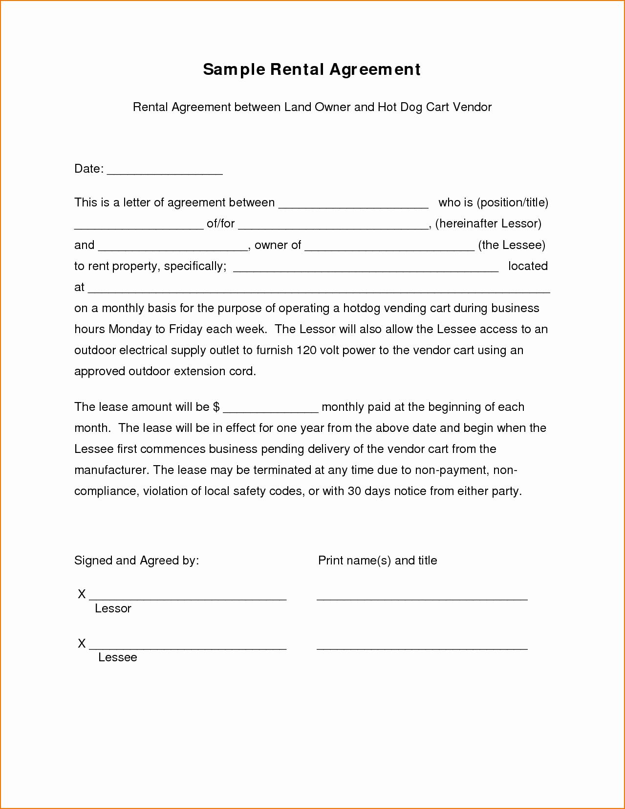 5 Sample Lease Agreement