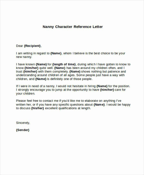 5 Sample Nanny Reference Letters – Pdf Word