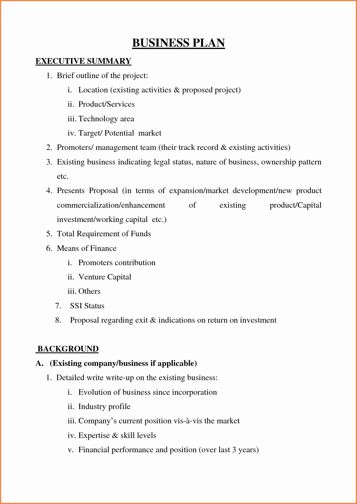 5 Sample Of Business Plan Proposal Pdf