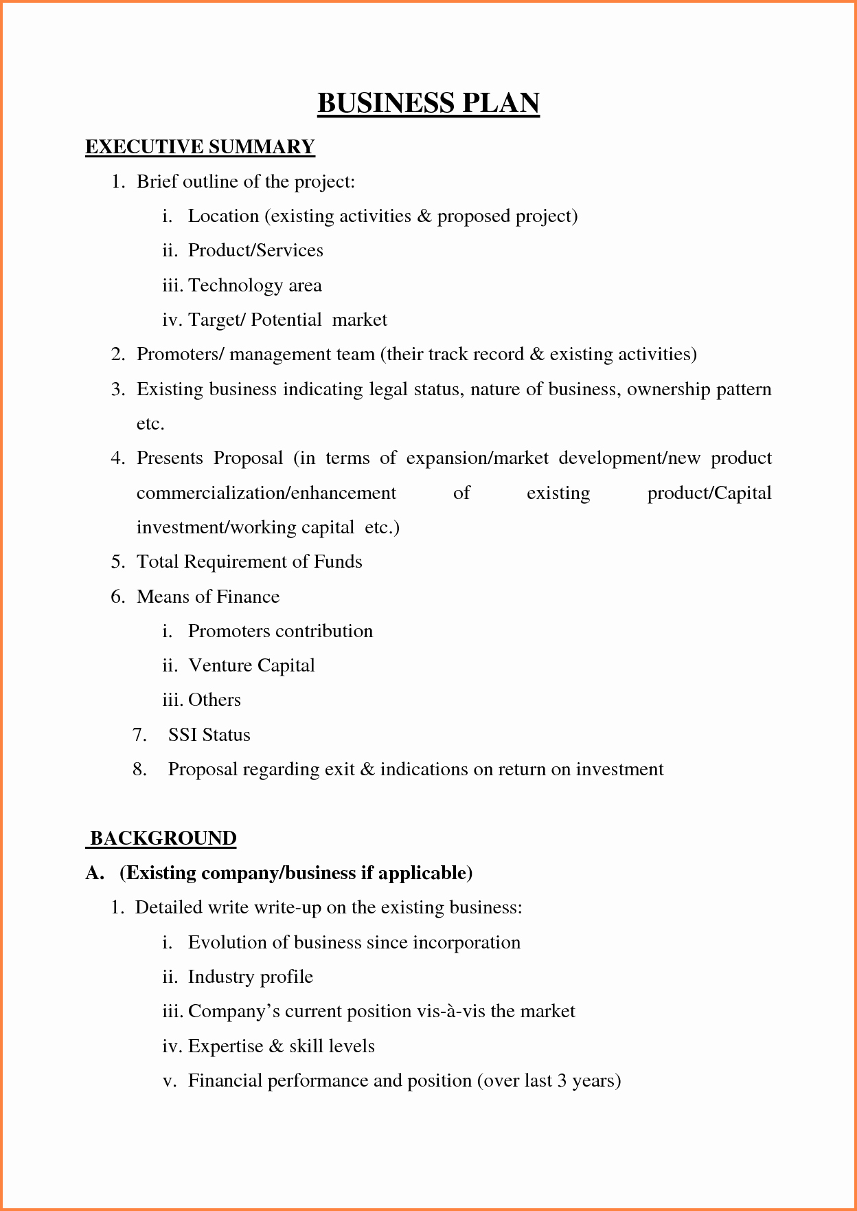 5 Sample Of Business Plan Proposal Pdf