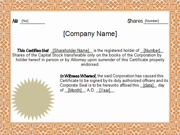 5 Sample Stock Certificate Templates to Download