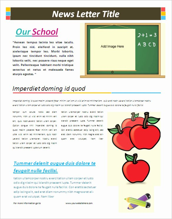 5 School Newsletter Templates Doc Pdf
