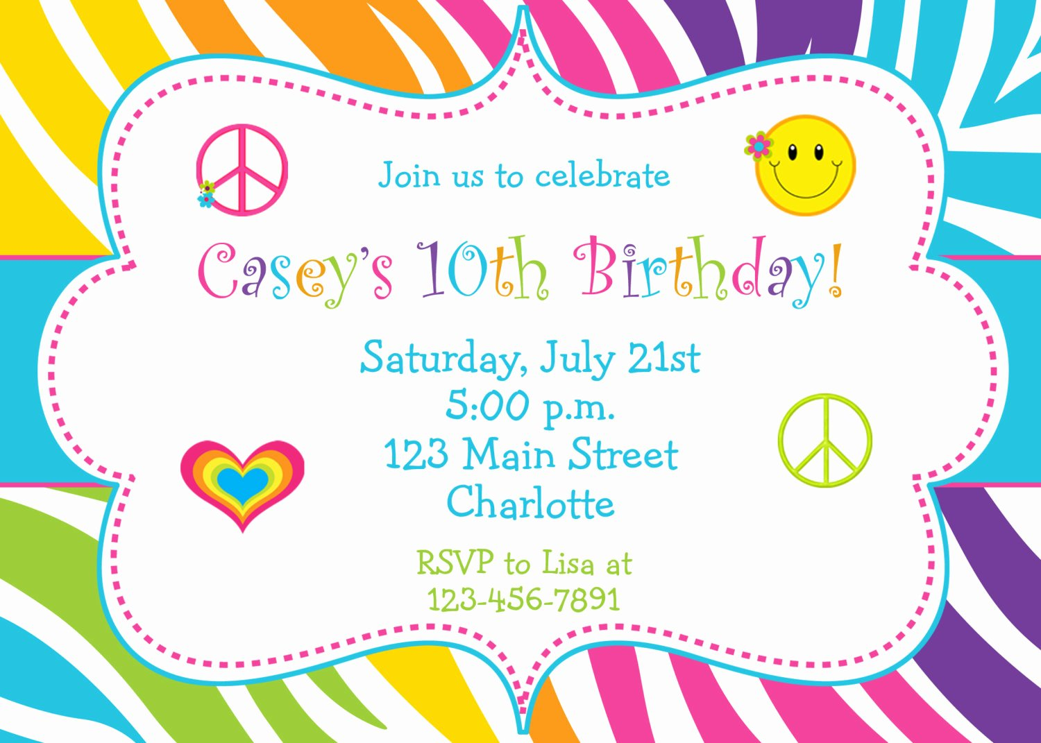 5 Several Different Birthday Invitation Maker