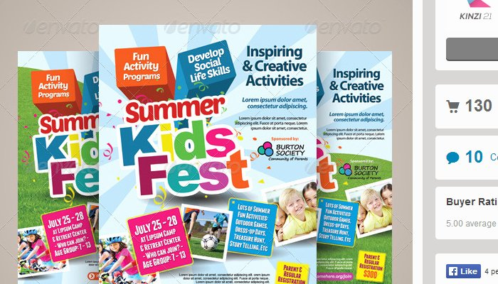 5 Summer Camp Flyer Templates