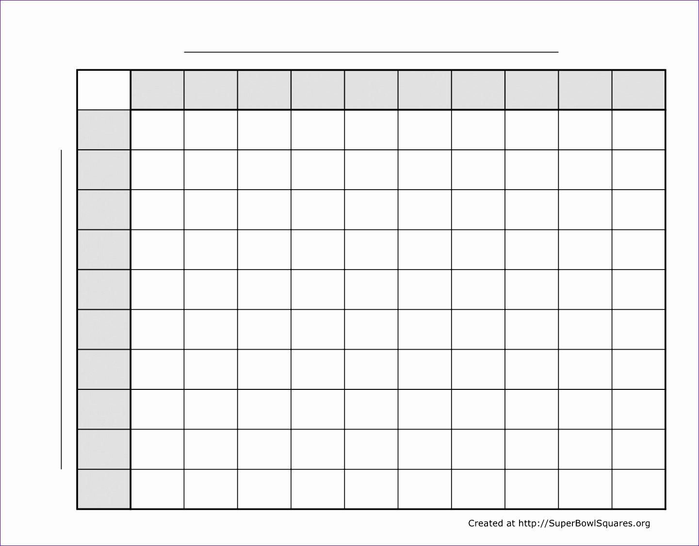 5 Super Bowl Squares Excel Template Exceltemplates