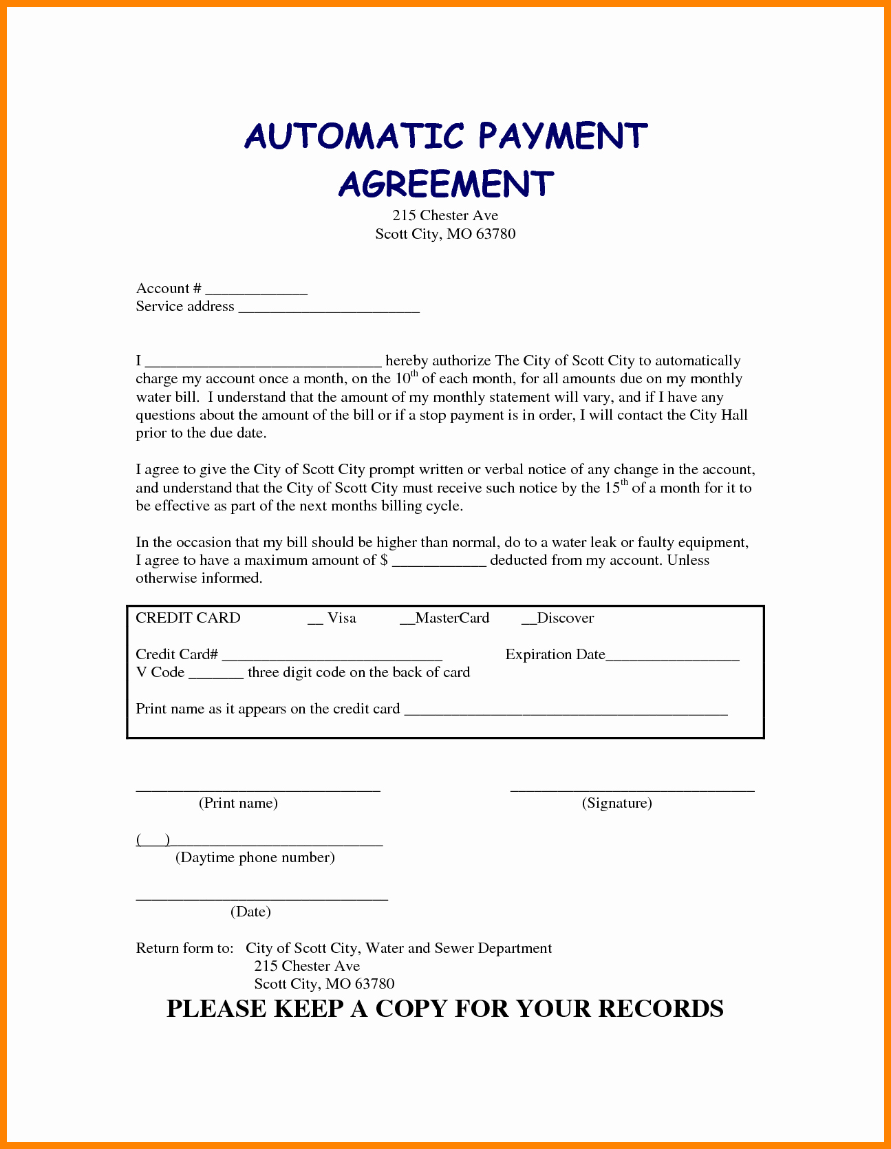 5 Take Over Car Payment Agreement form
