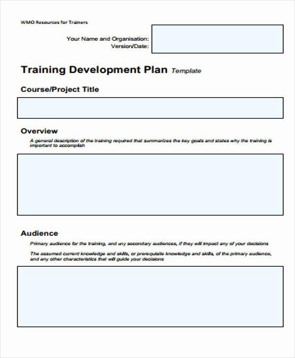 5 Training Plan Samples & Templates