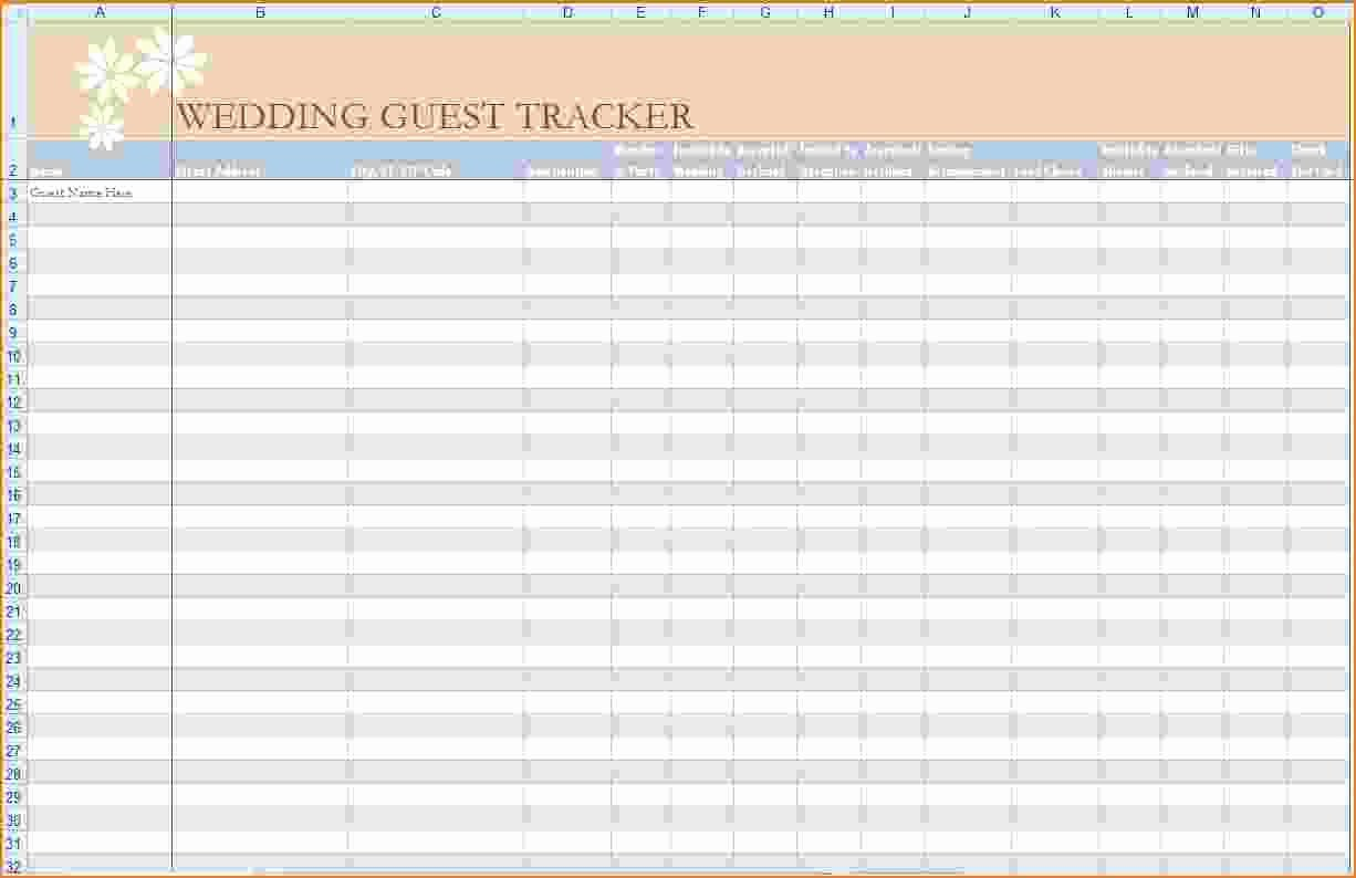 5 Wedding Guest List Template Excel