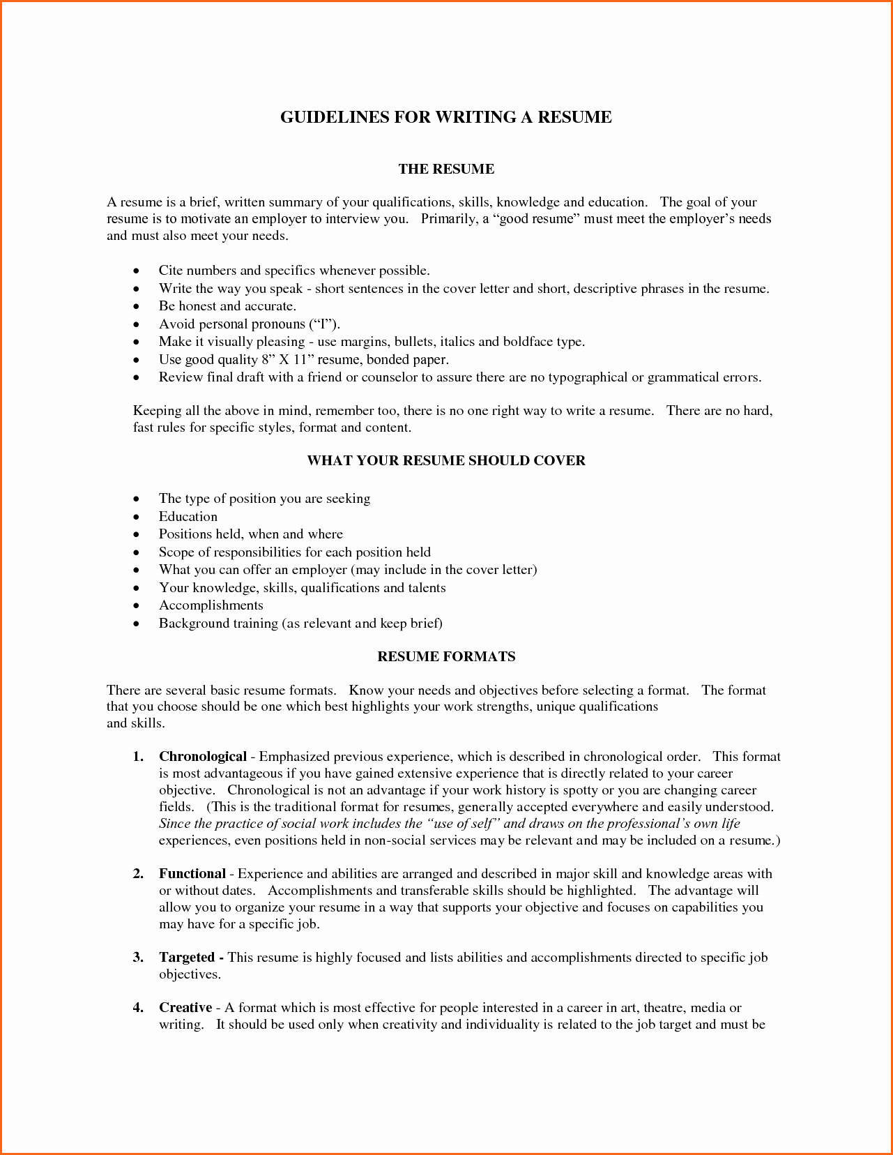 5 What Does A Good Resume Look Like Bud Template Letter