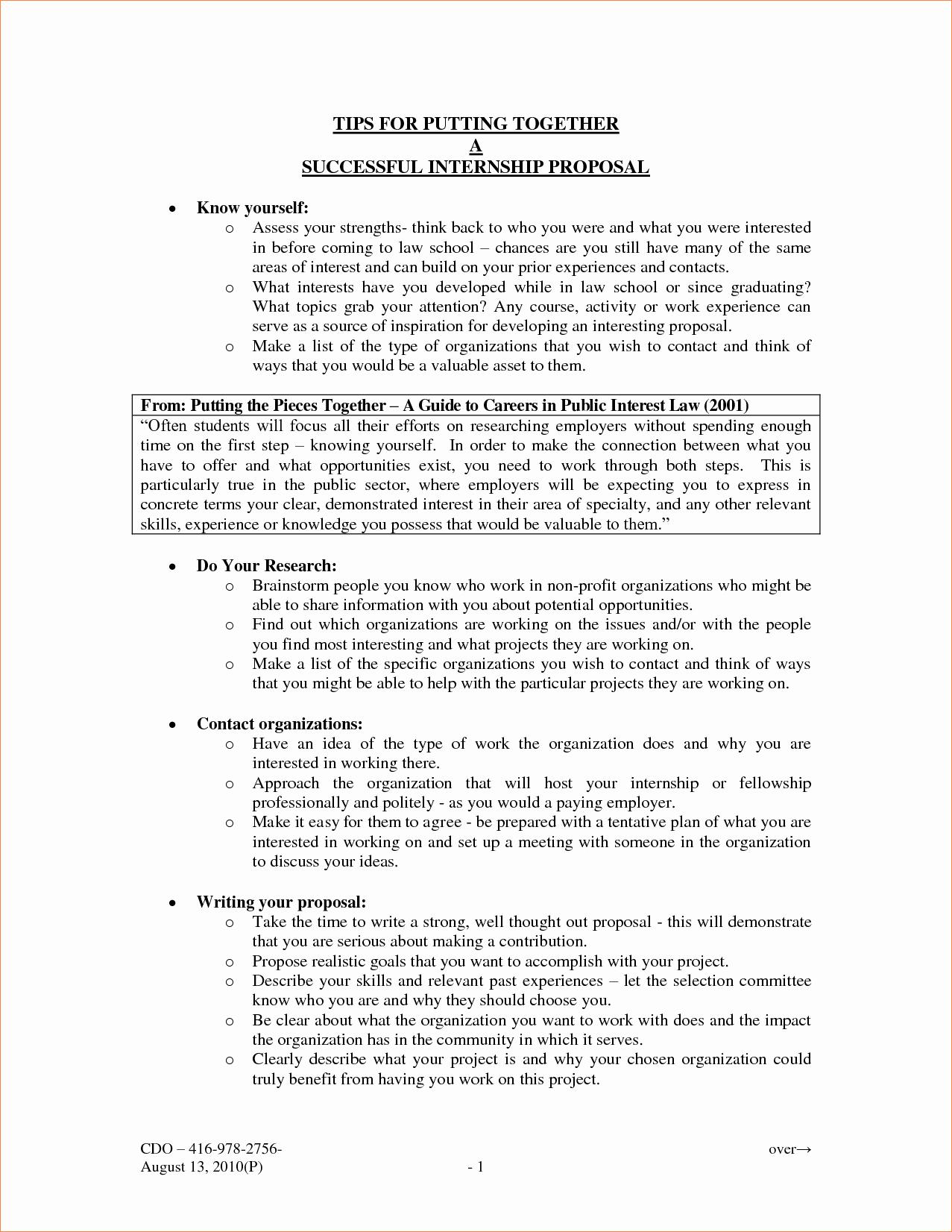 5 Written Proposal