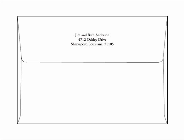 5 X 7 Greeting Card Template Greeting Card Envelope