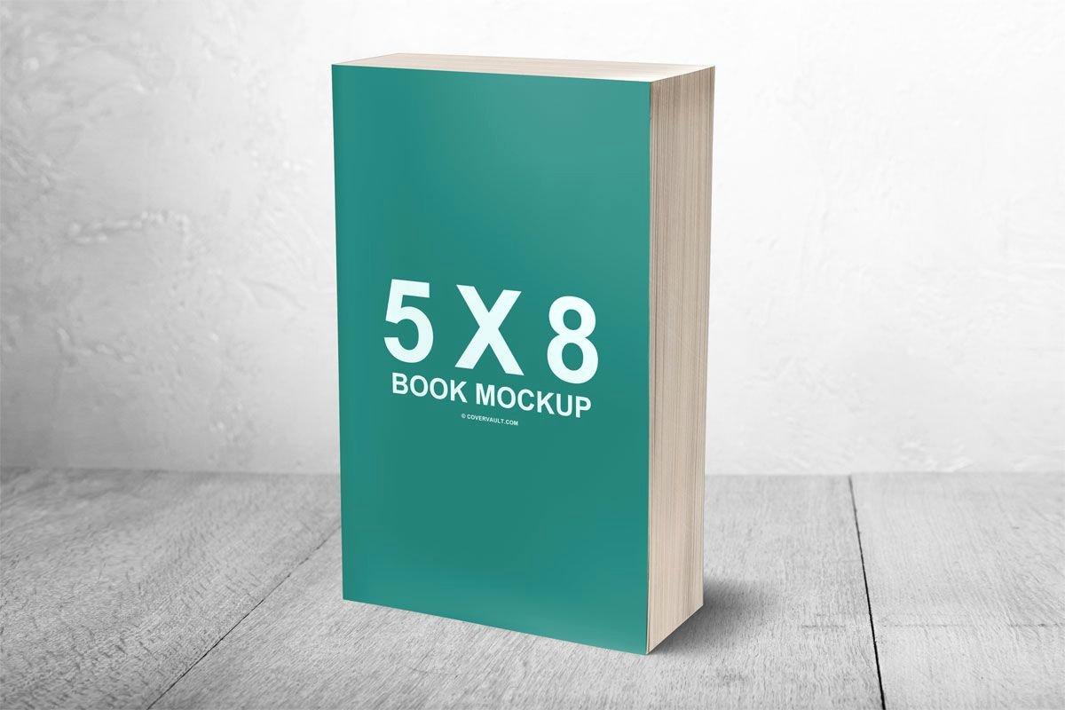 5 X 8 Mass Paperback Template Mockup Psd
