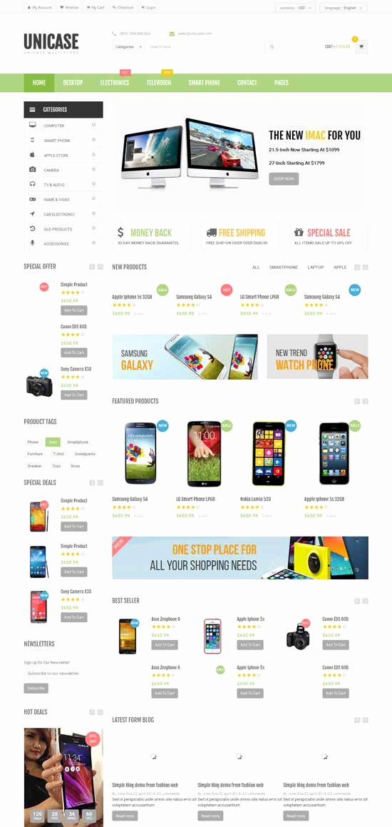 50 Best E Merce Website Templates Free & Premium