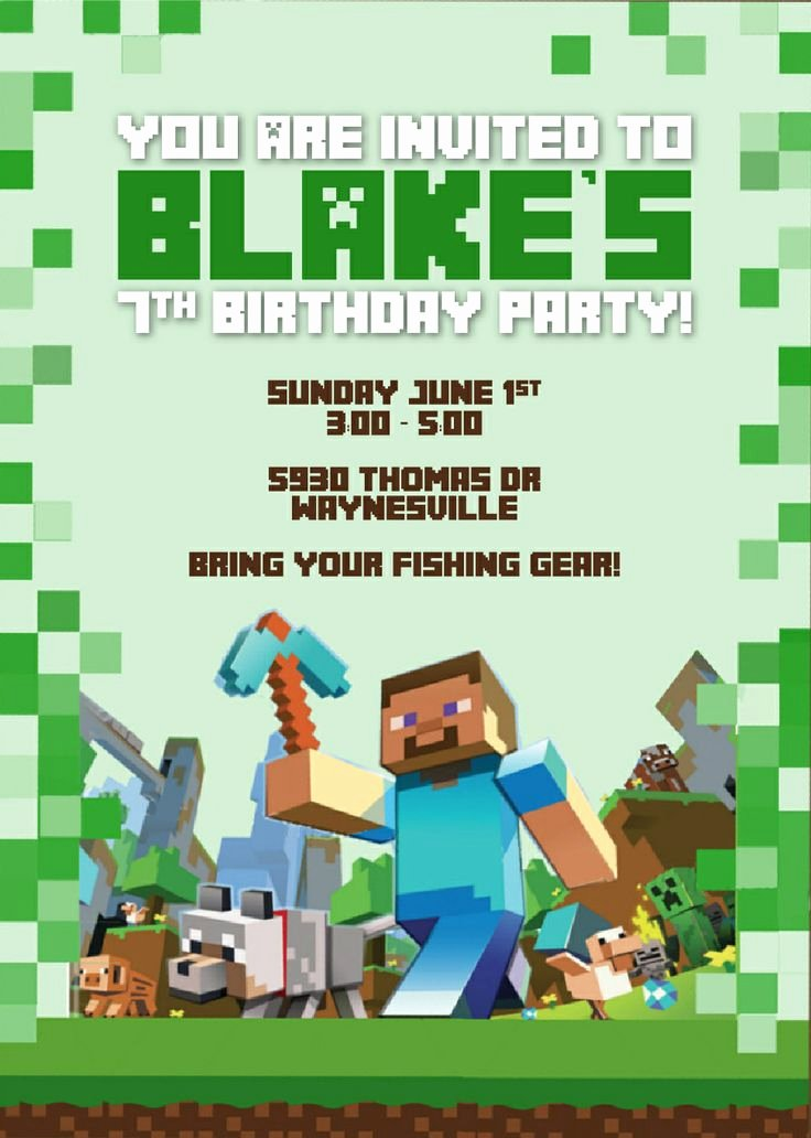 50 Best Images About Minecraft Party On Pinterest