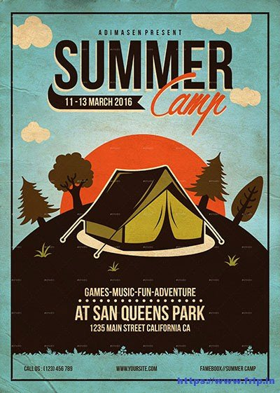 50 Best Kids Summer Camp Flyer Print Templates 2018