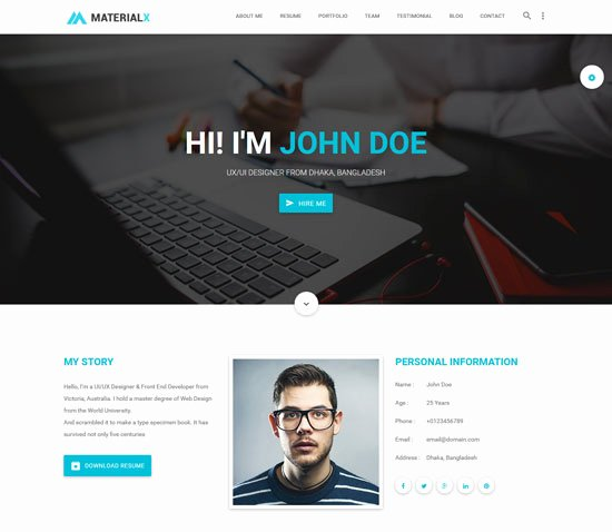 50 Best Personal Website Templates Free & Premium