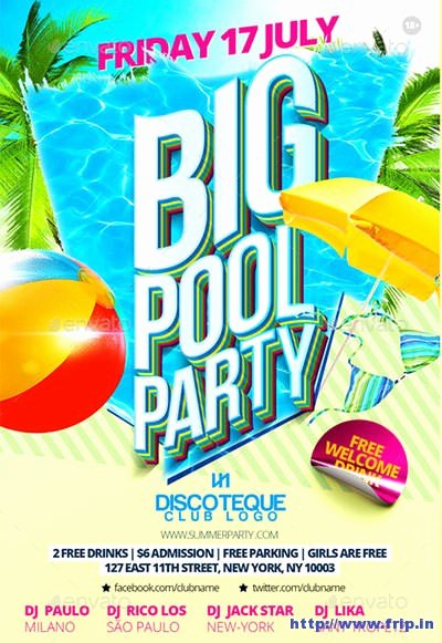 50 Best Summer Pool Party Flyer Print Templates 2017
