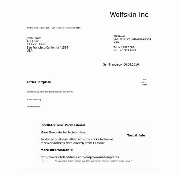 50 Business Letter Templates Pdf Doc