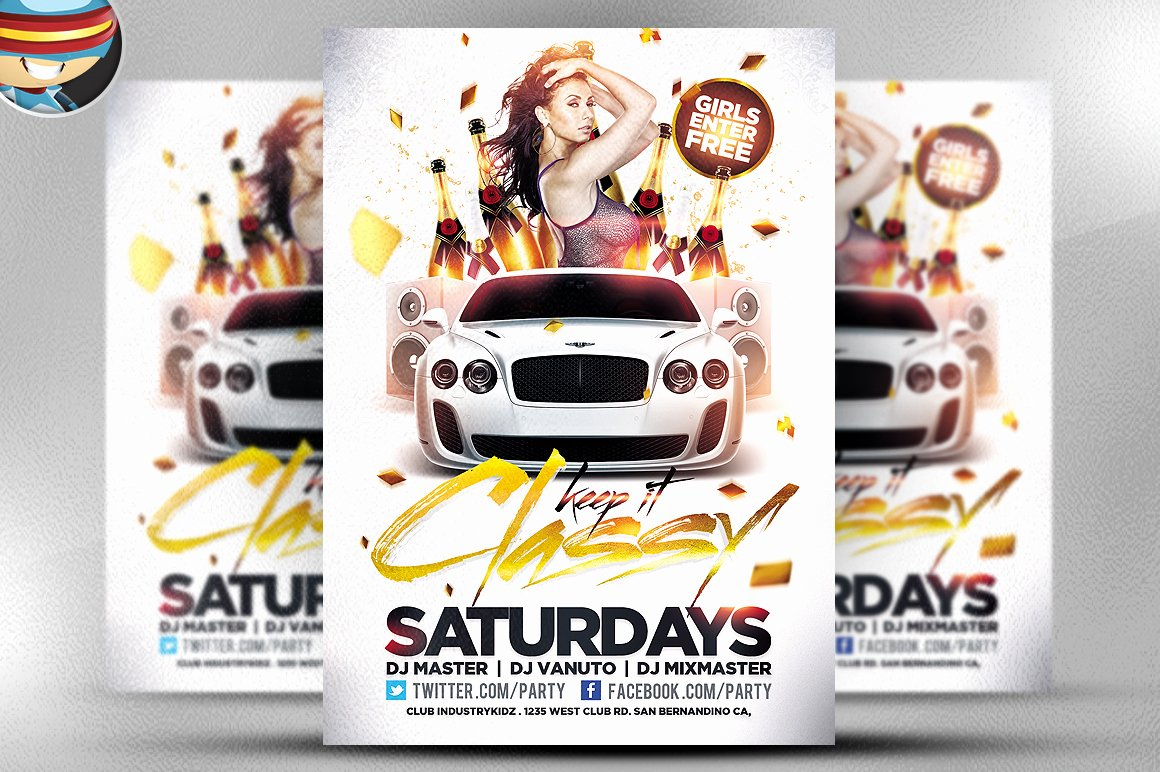 50 Cool Club Flyers & Party Flyer Templates