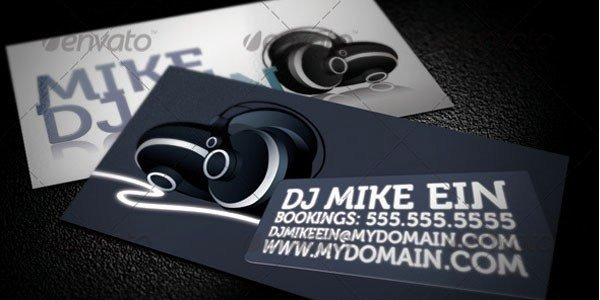 50 Dj Music Business Cards & Designs