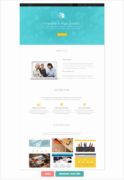 50 E Page Website Templates for Your Business Small