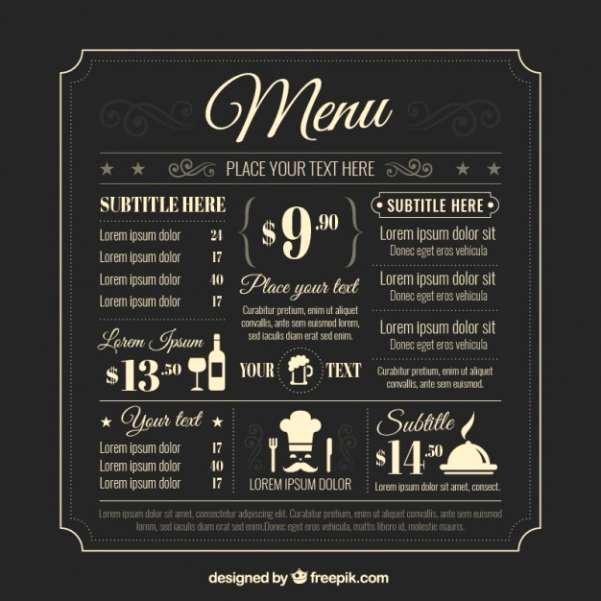 50 Free Food & Restaurant Menu Templates Xdesigns