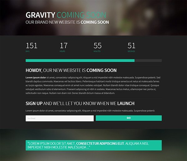 50 Free Ing soon Under Construction HTML Website Templates