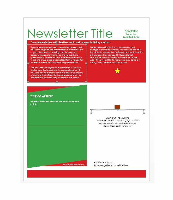 50 Free Newsletter Templates for Work School and