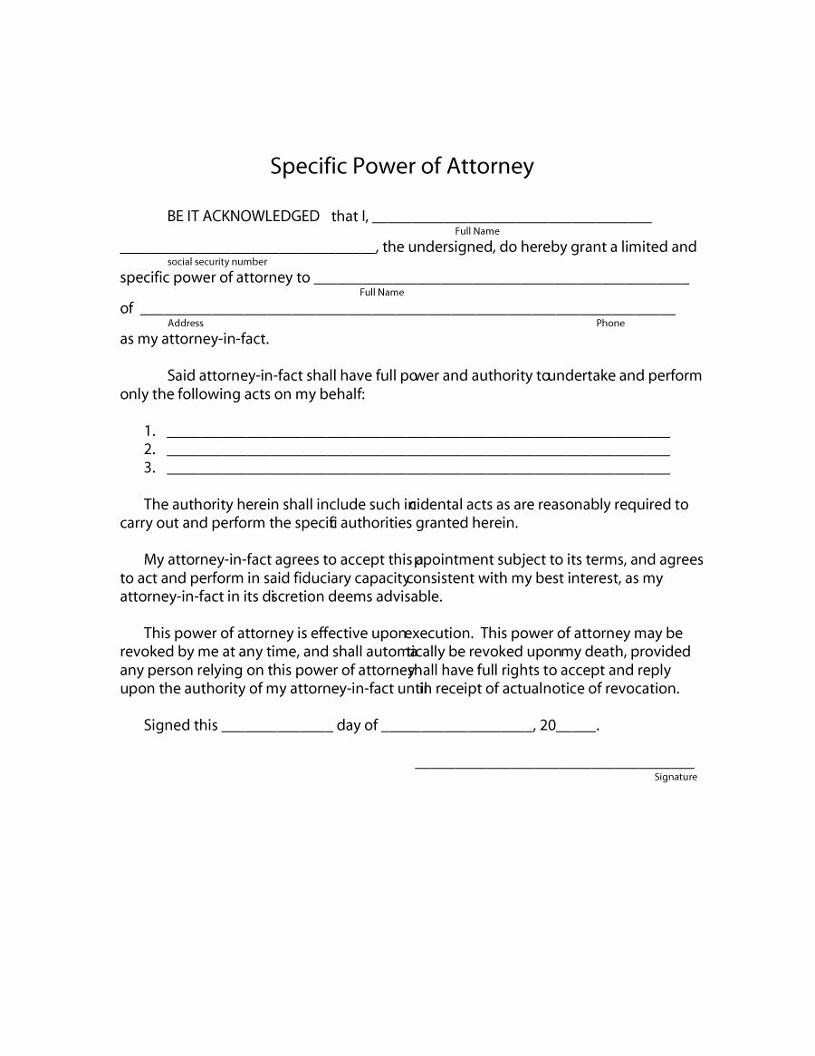 50 Free Power Of attorney forms & Templates Durable