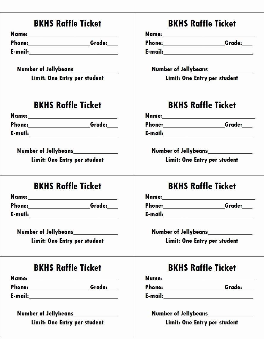 50 Free Raffle & Movie Ticket Templates Templatehub