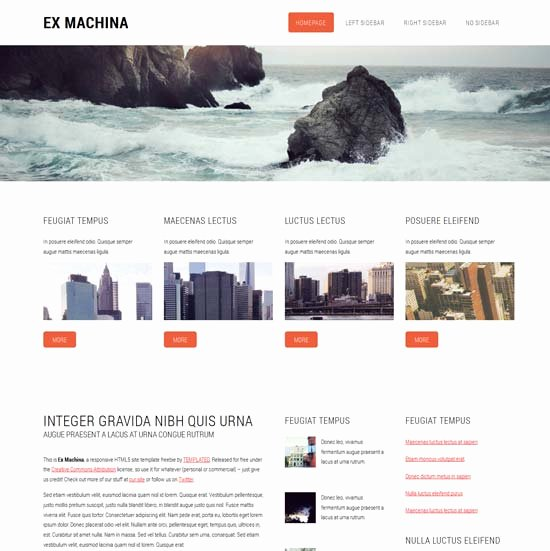 50 Free Responsive HTML5 and Css3 Templates