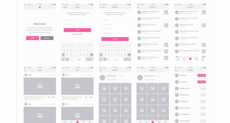 50 Free Wireframe Templates for Mobile Web and Ux Design