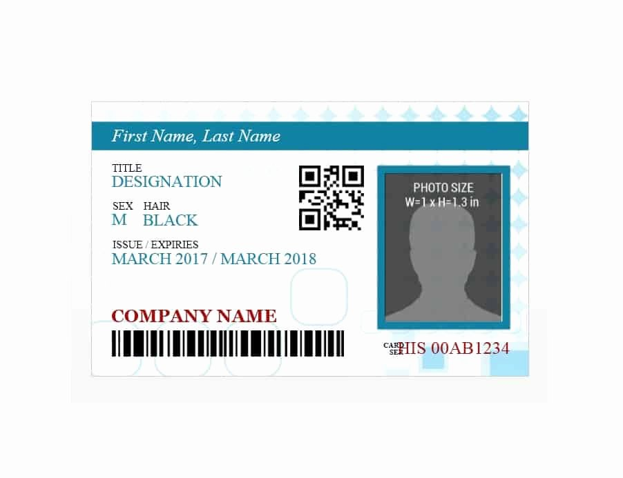 50 Id Badge & Id Card Templates Free Template Archive