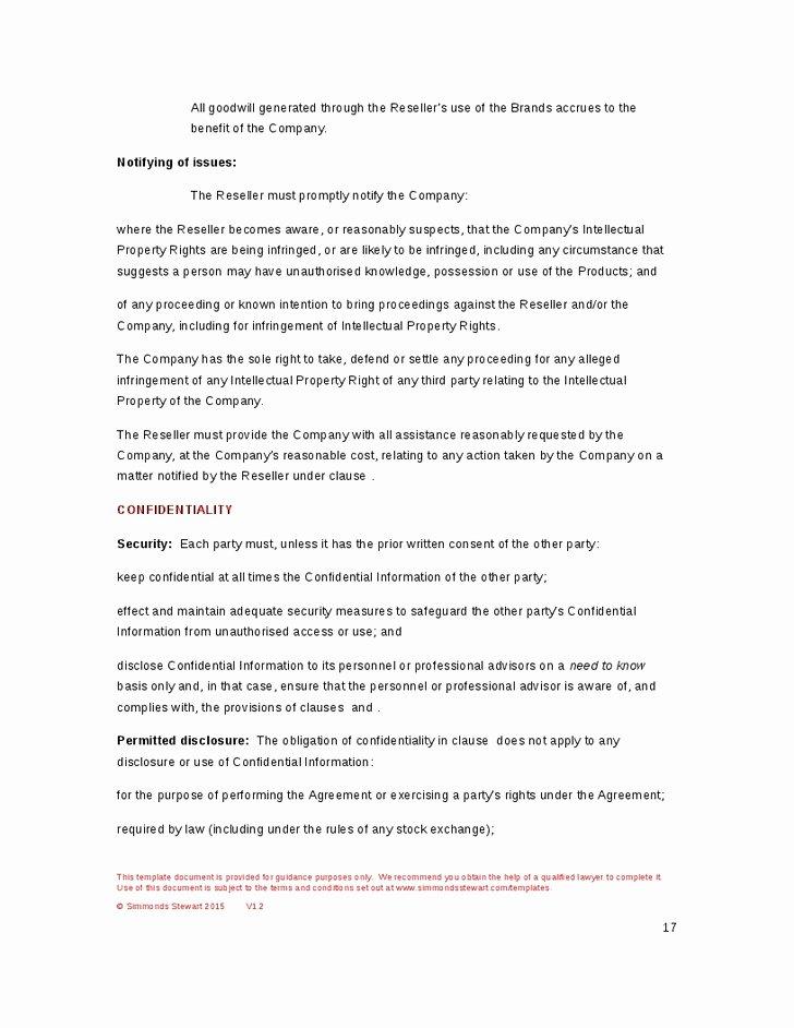 50 Ideal software Reseller Agreement Template Tu M