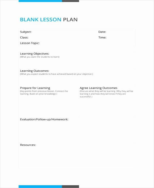 50 Lesson Plan Templates Pdf Doc Excel