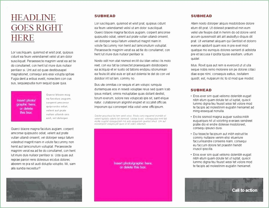 50 Lovely Microsoft Fice Brochure Templates