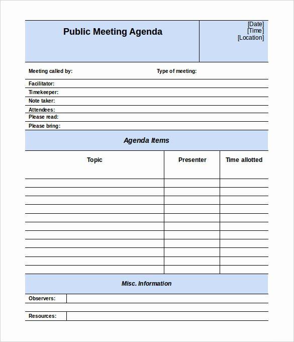 50 Meeting Agenda Templates Pdf Doc