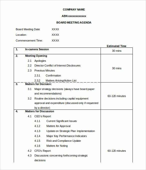 50 Meeting Agenda Templates Pdf Doc